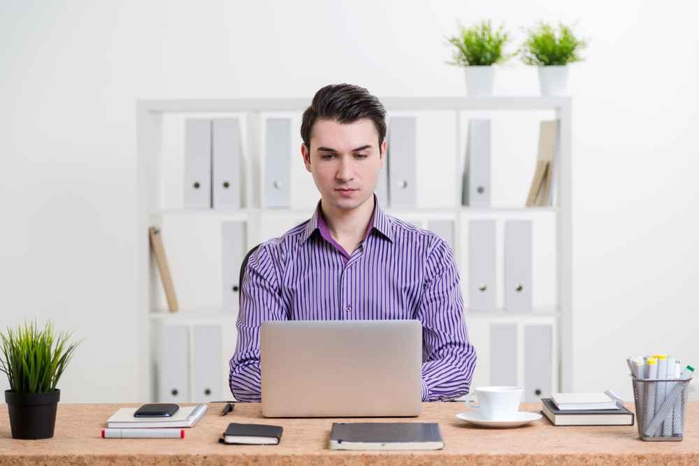 Male online interview