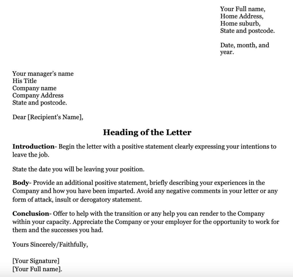 Resignation-Letter-Template